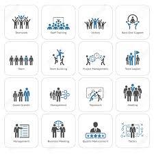 design management careers flat design business team icons set including meeting training