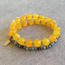yellow bracelet images Joy and change faceted yellow jade and african turquoise 27 bead jpg