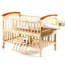 high quality pine wood baby bed no paint environmental protection