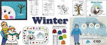 winter preschool activities winter crafts lessons and