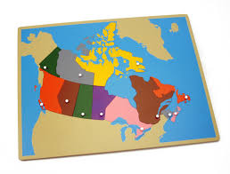 map of canada puzzle puzzle map canada the montessori workshop