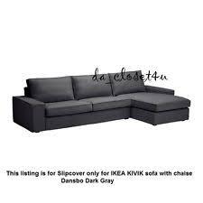 Ikea Sofa Bed With Chaise by Ikea Vilasund Sofa Bed Slipcover Dansbo Dark Gray 802 431 13 Ebay