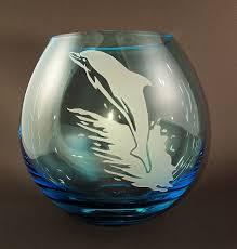 Dolphin Vase Warm Glass Gems By M
