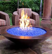 Diy Firepit Table Chic Propane Glass Pit Portable Pits Blue Best 38 Inches Diy