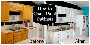 diy painting oak kitchen cabinets with white chalk paint before