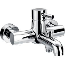 flova levo wall mounted manual single lever bath shower mixer with