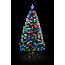 3ft fibre optic colour burst tree black friday