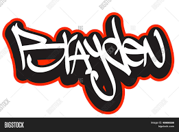 Name Style Design by Brayden Graffiti Font Style Name Hip Hop Design Template For T