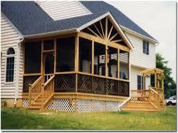 deck and screened porch plans elegant home design