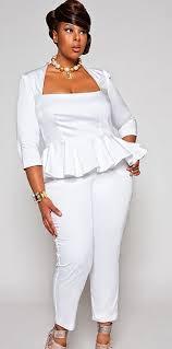 white jumpsuits plus size plus model for monif c plus sizes white jumpsuit plus