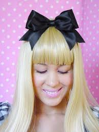 big bows for hair hair clip black hair bow satin ribbon bow big hair clip big hair