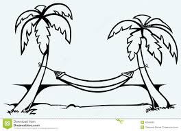 romantic hammock between palm trees stock vector image 40040695