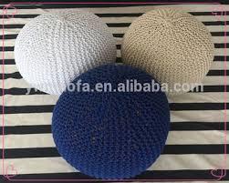 Crochet Ottoman Wholesales Indoor Home Crochet Moroccan Pouf Ottoman Handmade