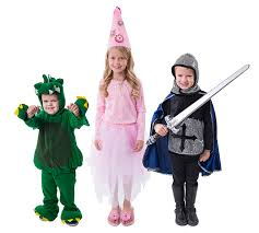 dragon a princess and knight in shining armor costumes