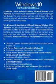 amazon com windows 10 2016 user guide and manual microsoft