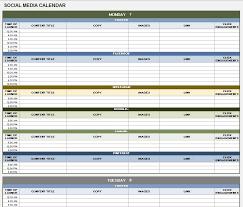 social media calendar template google docs planner template free