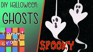 how to make a paper ghost diy for kids youtube