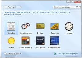 bureau windows 7 gadgets for windows 7 professional more images pics