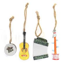 ornaments set of 4 newfoundland musical instruments