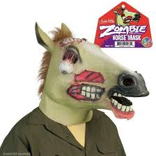 Mask Halloween Costume Latex Zombie Horse Mask Halloween Costume Wall Toys