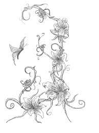 butterfly on vine by webkrovler on deviantart
