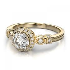 Engagement Ring Vs Wedding Ring by 34ctw Round Vintage Low Dome Diamond Sidestones Ring Mount In 14k