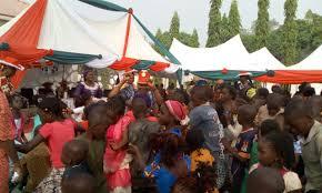 taraba governor u0027s wife thrills children at christmas party