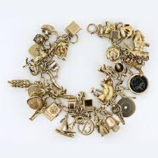 Paris Themed Charm Bracelet 1940 U0027s Charm Bracelet 14kt Gold I Would Die For This So Neat