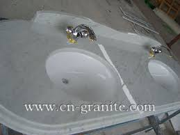 Marble Bathroom Vanity Tops by Double Hole White Marble Bathroom Vanity Top Granite U0026 Marble