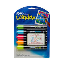 amazon com expo neon dry erase markers bullet tip assorted