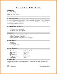 Examples Of Resumes 8 Sample Curriculum Vitae For Job by 8 Curriculum Vitae Format Examples Memo Heading