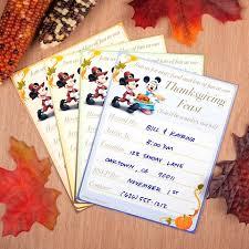 mickey minnie thanksgiving invitations disney family