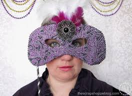 ceramic mardi gras masks for sale no sew mardi gras masks the scrap shoppe