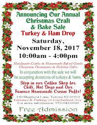 annual christmas craft u0026 bake sale u2013 ham u0026 turkey drop little