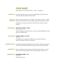 Example Of A Simple Resume by Basic Resume 16 Easy Resume Examples Examples Of Resumes Example