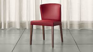 Red Dining Room Chair Curran Red Dining Chair Crate And Barrel