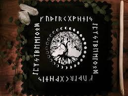 norse yggdrasil altar cloth tree of elder futhark
