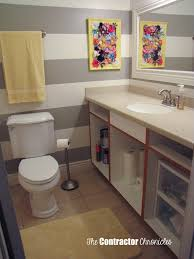 Gray Yellow Bathroom - gray and yellow bathroom makeover the contractor chronicles