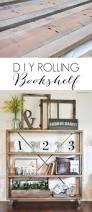 Easy To Build Bookshelf Rolling Diy Bookshelf Restoration Hardware Knockoff