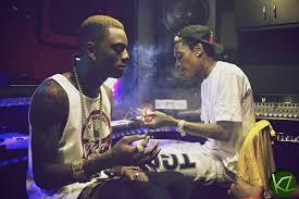 wiz khalifa and soulja boy smoking in tha studio wizkhalifazone