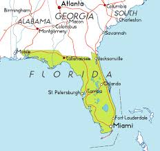 map usa florida map of florida in the usa
