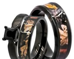 his and camo wedding rings camo promise ring etsy