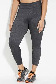 Plus Size Exercise Clothes Forever 21 Plus Size Athletic Leggings In Gray Lyst