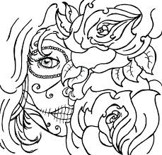 skull and roses coloring pages roses coloring pages coloring pages