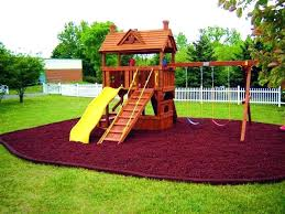 Steel Landscape Edging by Swingset Landscaping Ideas Swing Set Playset Landscaping Ideas