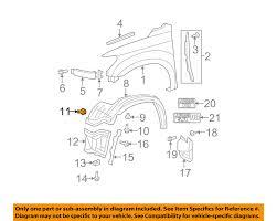 lexus is300 for sale pittsburgh toyota oem fender liner splash shield push clip retainer blind