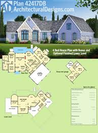 plan 42417db 4 bed house plan with bonus and optional finished