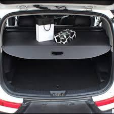 Kia Cargo Bbq Fuka Black High Quality Rear Trunk Cargo Privacy Cover