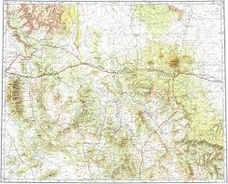 Topographic Map Of Arizona by Download Topographic Map In Area Of Prescott Flagstaff Prescott