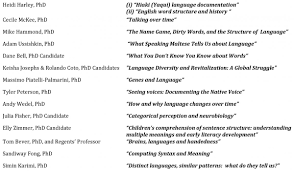 fall 2014 the department of linguistics